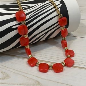 kate spade ♠️ red color block necklace NWOT